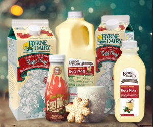 egg nog holiday treats from byrne dairy