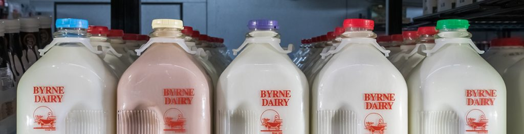 Milk in Glass Bottles Header from Byrne Dairy - Milk in Glass Bottles