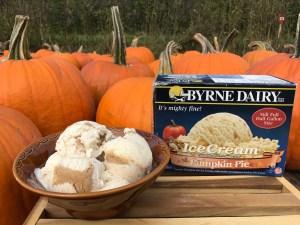 pumpkin pie ice cream holiday treats from byrne dairy