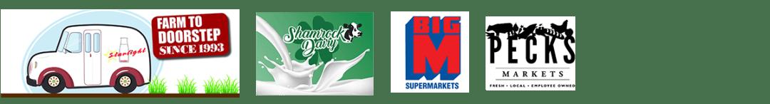 Strawberry Milk Location Logos from Byrne Dairy - Strawberry Milk