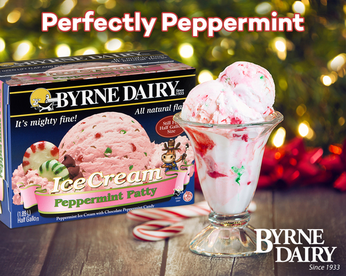 peppermint ice cream holiday treats from byrne dairy - Holiday Treats