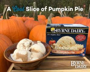 pumpkin pie ice cream holiday treats from byrne dairy