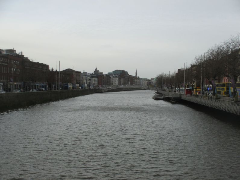 The River Liffey runs through Dublin