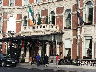 The renowned Shelbourne Hotel
