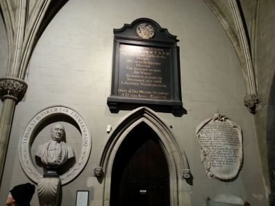 Jonathan Swift was Dean of St. Patrick's for over thirty years and is buried here.