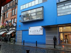 Project Arts Theatre is traditionally blue...