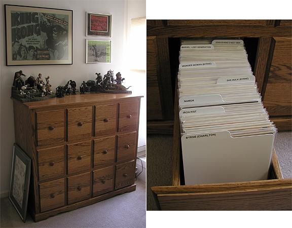 Byrne Robotics Custom Comic Book Cabinets