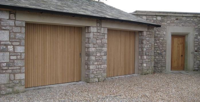 Side sliding garage doors gallery  Byron Doors