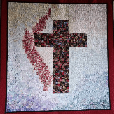 cross and flame quilt
