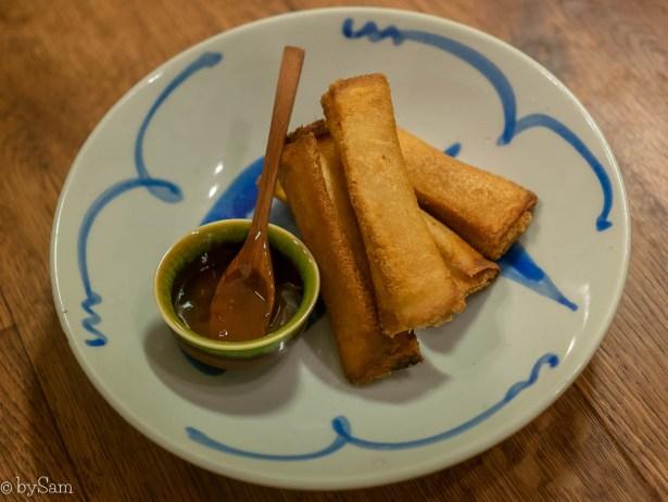Shrimp toast rolls recept David Chang