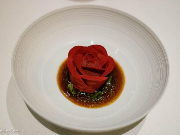 the rose dessert Restaurant Bord'Eau Amsterdam Centrum