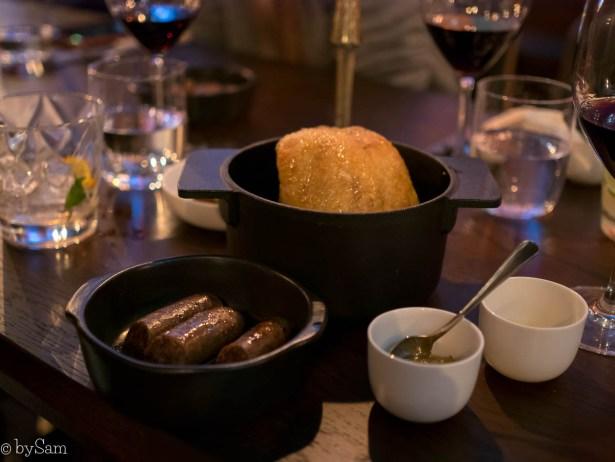 Zuurkool en duivenborstworstjes bij Restaurant Edel by Dennis Amsterdam