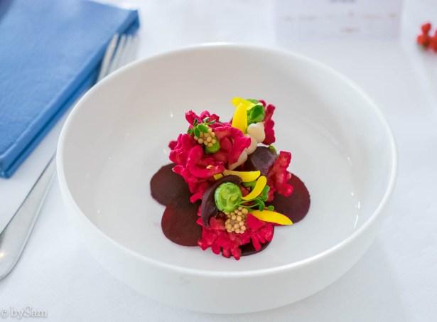Vegetarisch gerecht Kerstbrunch Goldfinch Brasserie bij Waldorf Astoria Hotel Amsterdam Centrum