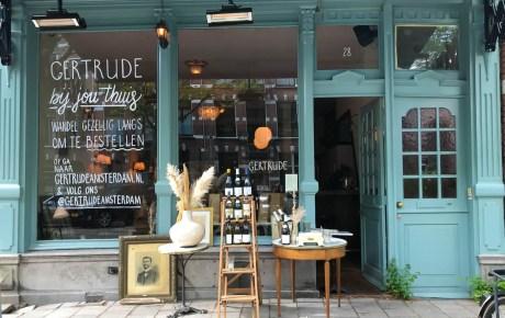 Gertrude Amsterdam een beregezellige plek om wijn te drinken en wat te eten in Amsterdam West