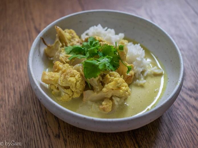 Recept gele curry met bloemkool