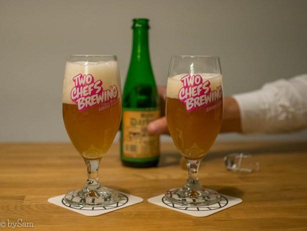 Bier Two Chefs Brewing thuisbezorgd avondeten