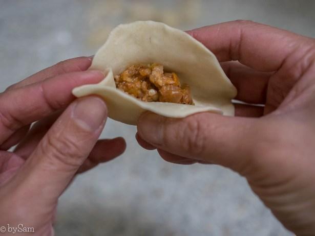 Dumplings vouwen techniek