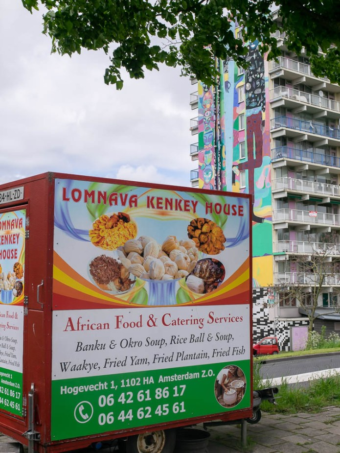 Lomnava Kenkey House food walk Amsterdam Zuidoost