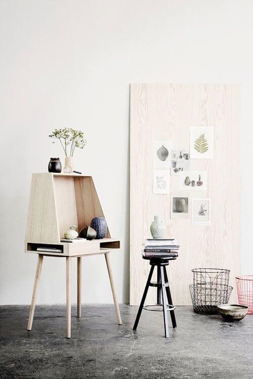 wooden byro desk