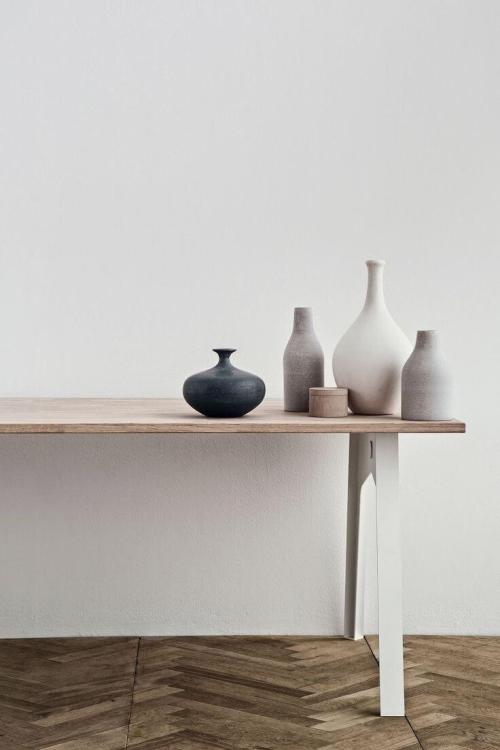 muted pastel vases