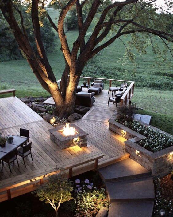 decking idea for sloping garden