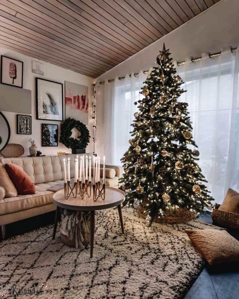 cosy christmas setting