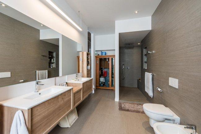 Baño con estilo industrial