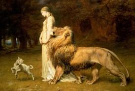 Briton Rivière - Una and the Lion