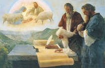 Isaiah Writes of Christ's Birth (The Prophet Isaiah Foretells Christ's Birth), by Harry Anderson