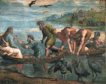 Raphael 1483 – 1520, The Miraculous Draught of Fishes