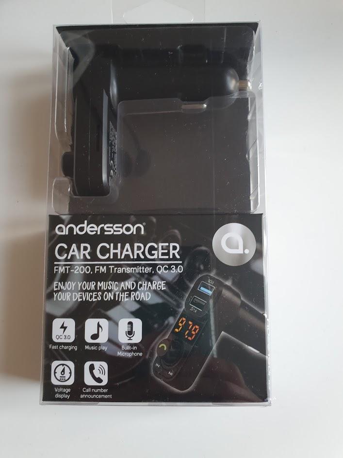 Test Andersson FMT-200 FM sändare och laddare