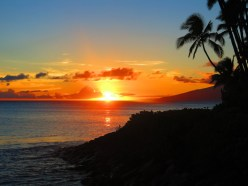 Sunset from Makena Beach