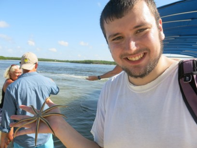 Kyle and our star fish friend
