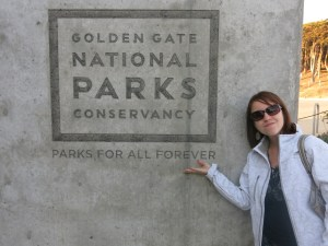 "We had a little sarcastic fun with the ""parks for all forever"" sign, since they were all closed at the time."