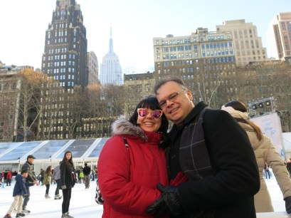 Kyle's parents in Bryant Park