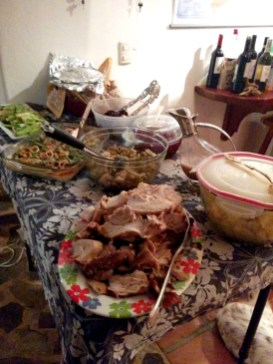 The spread for Christmas dinner