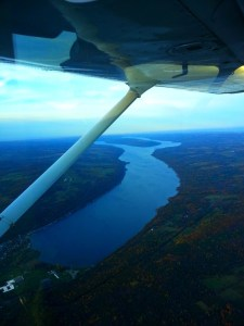 My beloved Y-shaped Keuka Lake, as seen during a scenic flight.
