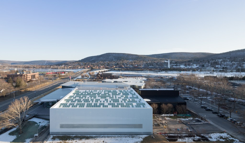 View from above the new Contemporary Art + Design Wing. Photo courtesy of Iwan Baan and The Corning Museum of Glass.