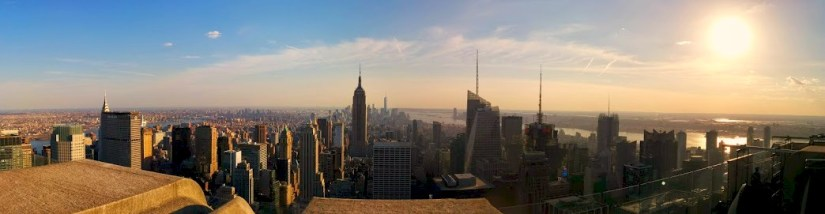 The view from the Top of the Rock.