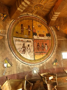 Decorations inside Desert Watchtower.