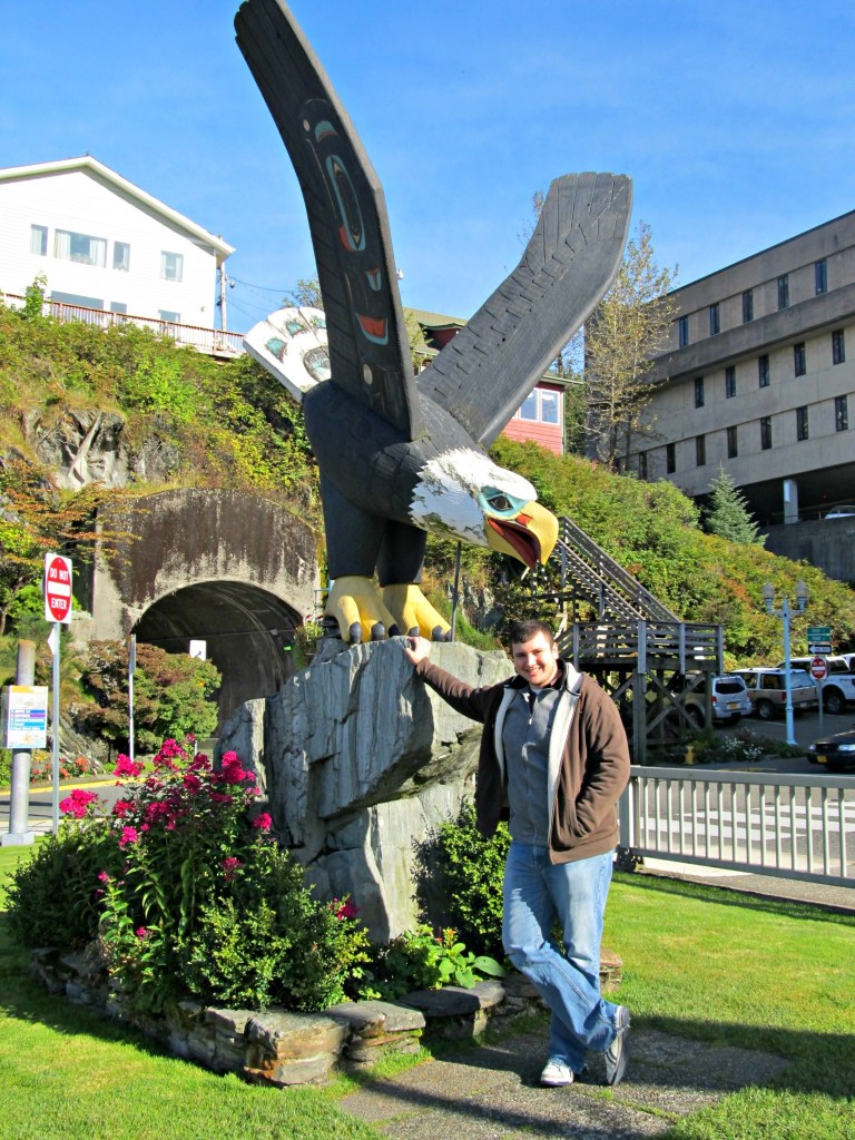 A totem eagle in Ketchikan, Alaska.