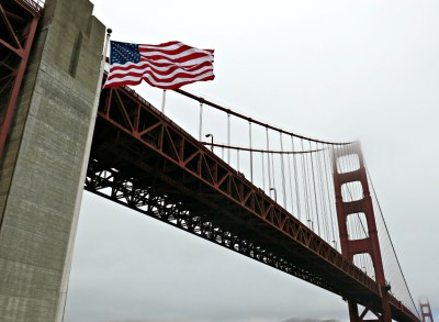 Feeling patriotic in San Francisco.