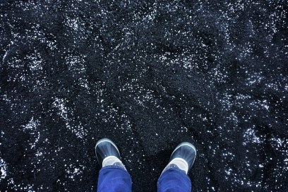 Black sand and graupel
