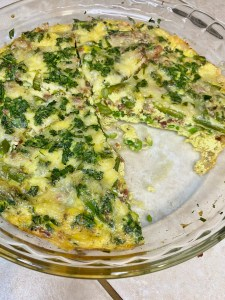 Spring Frittata with Asparagus, Peas, and Pancetta