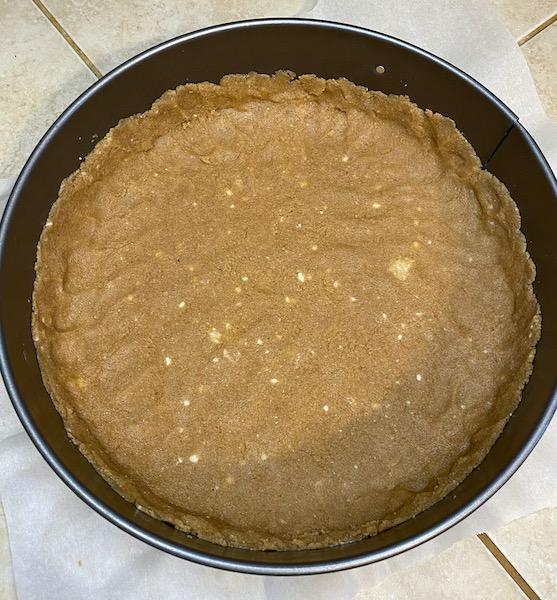 Butter Almond Crust Cheesecake Base