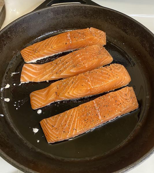 BBQ Cut Salmon Filets