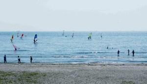 稲毛海浜公園ウインドウサーフィン
