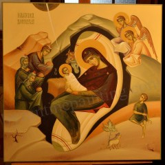 nativity of christ byzantine icon