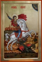 Saint George, Byzantine icon for sale