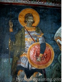 Mural painting Gracanica monastery (3)